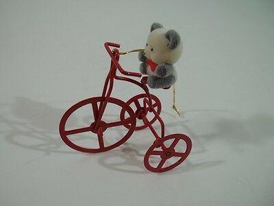Avon Teddy Bear Ornament Collection: Teddy On Tricycle