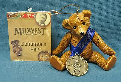 Midwest of Cannon Falls Jointed Porcelain 100th Anniversary Teddy Bear NWT