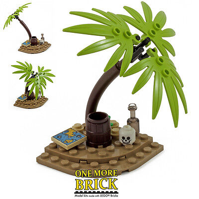 LEGO Palm Tree Desert Island - Tropical Palm Tree with accessories. New.