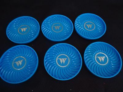 Wien Air Alaska Set Of 6 Plastic W Coasters With Case
