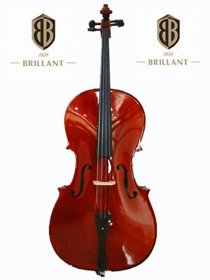 BRILLANT Student II 3/4 Cello Outfit with Bag, Bow and Rosin