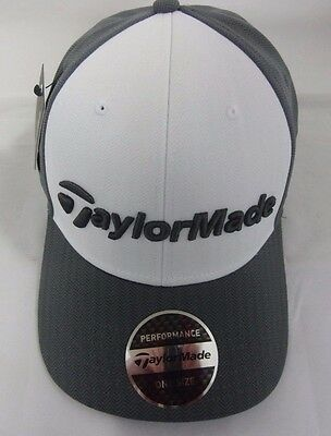 New  2017 Taylormade Tour Radar Grey/white Hat/ Cap Adjustable
