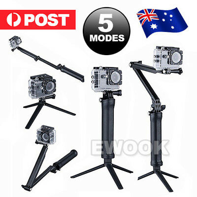 Adjustable 3 Way Monopod Selfie Pole Stick Camera Tripod Mount GoPro Hero 5 4 3+