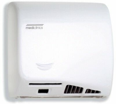 Mediclinics Speedflow M06a White Epoxy Sensor Hand Dryer - Hand Dryers