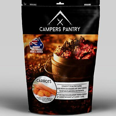 Campers Pantry Carrots Freeze-dried Food