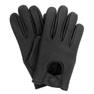 Men's Real Lambskin Sheep Mesh Leather Driving Fashion Dress Gloves