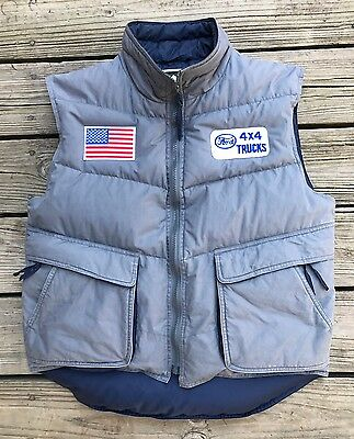 Vintage FORD TRUCKS 4x4 Countryside Outfitters Down Trucker Puffy Vest Men's M