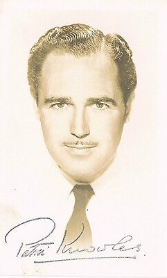 Patric Knowles Film Actor Adventures of Robin Hood Hand Signed Photograph 5 x 3