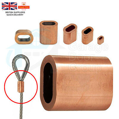COPPER Steel Wire Rope Ferrules Crimping Sleeve For Marine Stainless Steel Wire