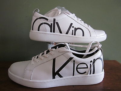 NEW Calvin Klein Danya Logo Athletic Shoes Sneakers Women's Size 8.5 Leather