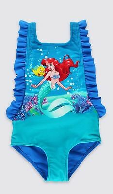 NEW with TAGS M&S Disney Princess Little Mermaid Swimming Costume 3 - 6 Monthsc
