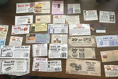 Lot of Over 200 Vintage Manufacturer Coupons Mixed Lot of No Expiration Date