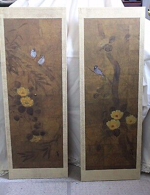 Japanese Iohara Collection Two Panels Byobu by Hiyakuho Imayasu  - BEAUTIFUL !!!