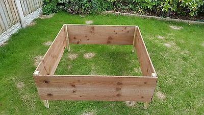 Wooden 1m x 1m raised bed