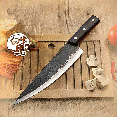 Forged Japanese VG10 Kitchen Slicing Chef Knife Slice Knives 9 or 8 Inch Sharp
