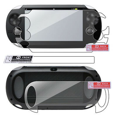 Transparent Front and Back Screen Protector Film for SONY PS Vita PSV1000 HD