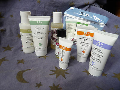 Ren clean skincare face and body care , travel sizes, bnip
