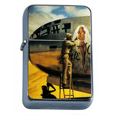 German Pin Up Girls D3 Windproof Dual Flame Torch Lighter Refillable