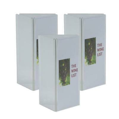 5 x 3 Panel Acrylic Menu Stand, DL, Restaurant / Cafe / Bar / Wine List / Menus