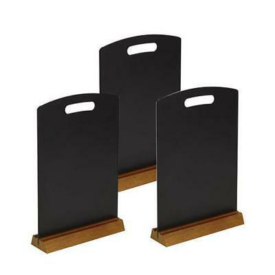 5 x A5 Melamine 'Chalk Board' Menu With Wooden Stand, Restaurant / Cafe Menus