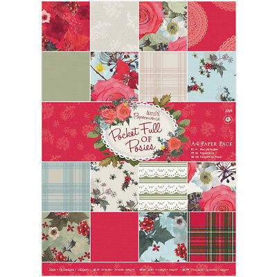 Papermania A4 Single-Sided Paper Pack 32/Pkg-Pocket Full Of Posies, 16 Designs/2