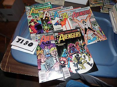 Avengers lot of 7 books #218 #219 #223 #224 #227 #228 and #230