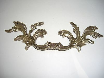 Vintage Large Solid Brass Drawer Pull French Provincial 8 3/8""