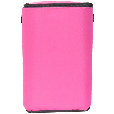 """Pink Brush Stop With Zippered Top-8""""X12""""X5"""" 40131"""