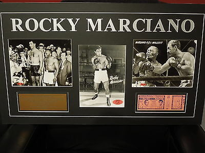 Heavyweight  Champion Rocky Marciano limited edition matted ready to frame 5/49