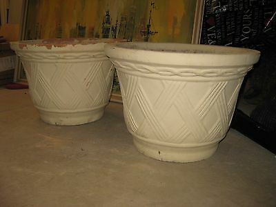 2 Large UGLY Ceramic Pots..need loving home TERRACOTTA
