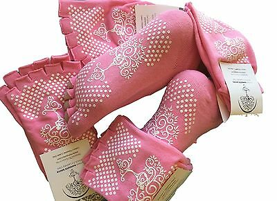 Pilates Yoga Sock Bundle!! 5 Pairs, Choose From Pink Or Grey, Plus Free Shipping
