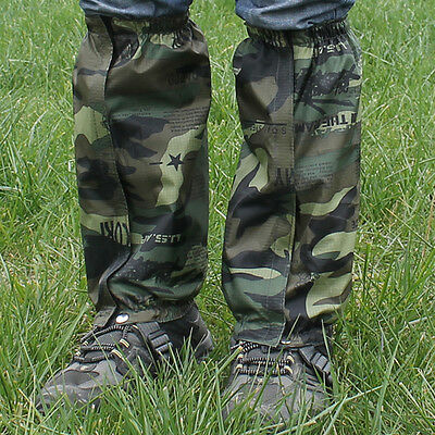 Waterproof Leg Gaiters boot shoe cover long legging hunting hiking camping
