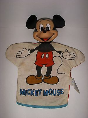 1960's MICKEY MOUSE Vintage WALT DISNEY HAND PUPPET Old Figure Doll # 0223-043