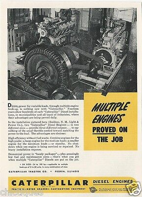 1945 CATERPILLAR Diesel Engines RUIDOSO New Mexico Light Power Vintage Print Ad