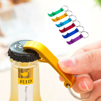 3PCS Portable Mini Bottle Opener Keyring Keychain Metal Beer Bar Tool Outdoor