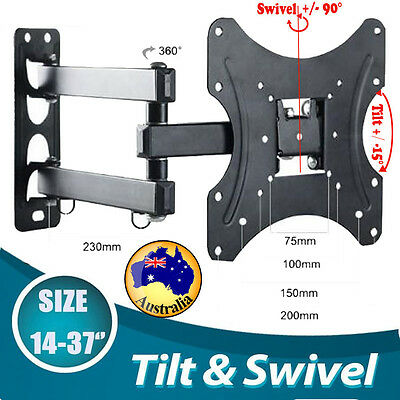 Plasma TV Wall Mount Slim Bracket Full Motion Tilt Swivel LCD LED AU Hot Sale SG