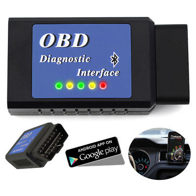 ELM327 OBDII Scanner Code Reader Bluetooth Can OBD2 Scan Tool For Torque Android