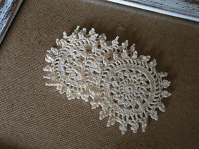 Vintage  Doilys X 10 Natural Cream Craft Sewing Crochet  Great Condition Nos
