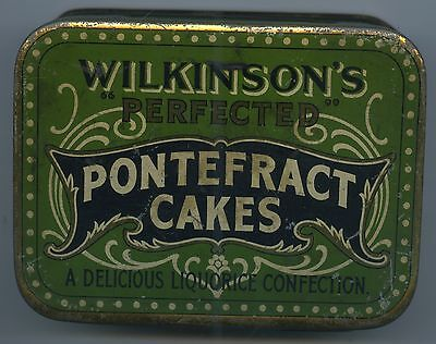 Vint Tin Wilkinson's Pontefract Cakes Licorice Confectionary Vg Condition O5.