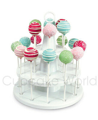 Bakelicious Cake Pop Stand For 18 Cake Pops 2 Tiers Cupcake Display Holder