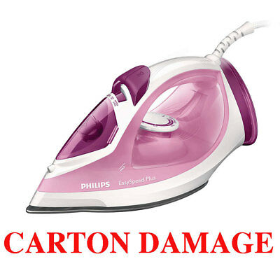 Philips GC2042 Easy Speed Steam Iron Pink/2100W/Anti-Calc Ceramic Ironing