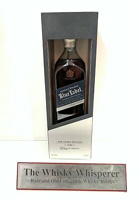 JOHNNIE WALKER 750ml Porsche Cask Edition Blue Label Scotch Whisky In Box - RARE