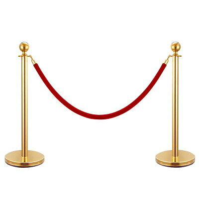 Gold Queue CONTROL BARRIER POSTS STAND SECURITY STANCHION DIVIDER SET