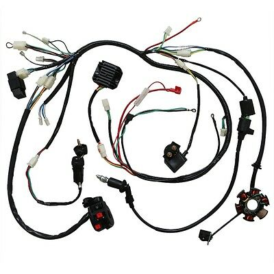 Full Electric Wiring Harness CDI Coil 150cc 250cc ATV Quad Bike Buggy Go Kart