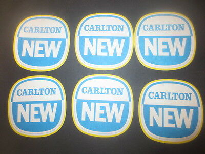 "6 x CARLTON NEW "" BEER NO MORE"" 1980,s Issue  collectable BEER COASTERS"