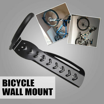Bicycle Wall Rack Mount Bike Storage Steel Hanger Hook Garage Stand Holder Black