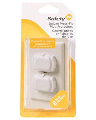 Safety 1st Deluxe Press Fit Outlet Plugs 8 Count