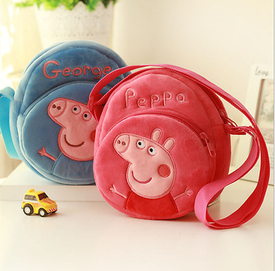 New Peppa Pig Cute Bag Wallet Purse Toy For Kids Girl Pink Piggy Festival Gift