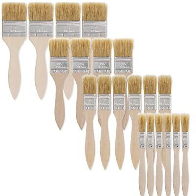 US Art Supply 20 Pack of Assorted Size Paint and Chip Paint Brushes for Paint...