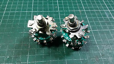 2 X 2 Pole 6 Position Rotary Switch , 2 WAFERS